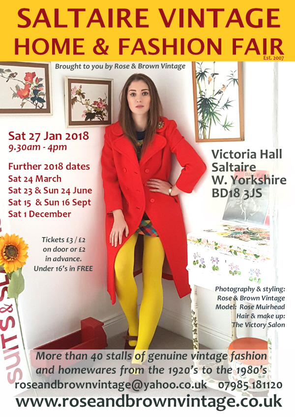 Rose & Brown, Vintage Home and Fashion Fairs, 2018