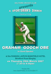 Poster: A Sportsman's Dinner with Graham Gooch