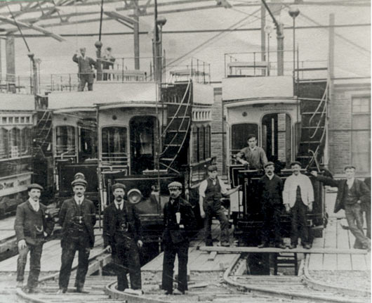 Tramshed under construction