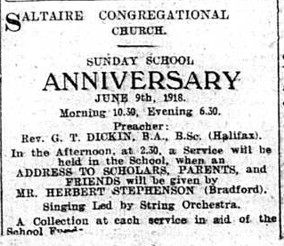 Saltaire War Diary, June 1918