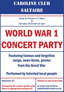 WW1 Concert Party, Saltaire