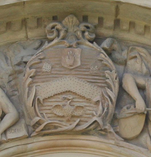 Salt Coat of Arms on Victoria Hall, Saltaire