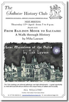 Saltaire History Club poster - 17 April  2008