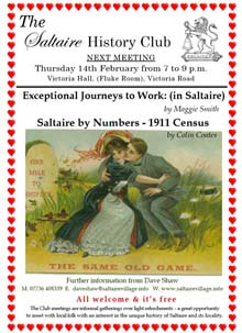 Saltaire History Club, February 2013