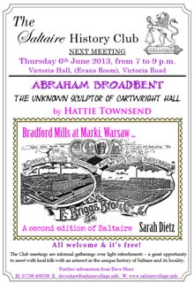 Saltaire History Club, June 2013