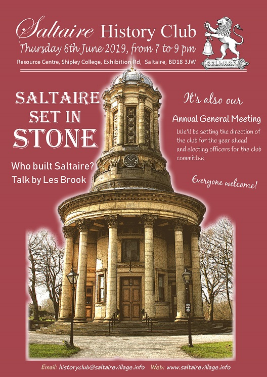 Saltaire History Club, 10 Sept 2015