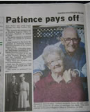 Patience pays off - the newspaper article appearing in New Zealand.